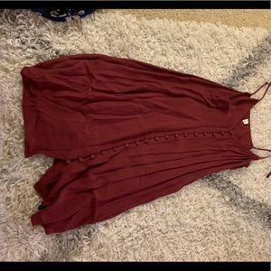 Button slip dress